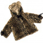 Bearington Bears Luxe Plush Leopard Baby Coat 6-12 Months