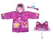 Kidorable Butterfly Rain Coat and Umbrella Set
