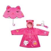 Kidorable Cat Raincoat & Cat Umbrella Set