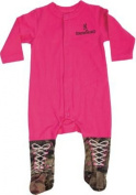 BROWNING BRB007.420 HOT PINK ONE-PIECE BABY pyjamas HOT PINK/CAMO ACCENTS
