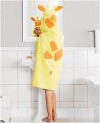 "Children's Hooded Bath Towel Yellow ""Giraffe"" 64cm x 127cm by Jumping Beans"