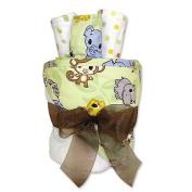 Trend Lab Chibi Zoo Animals Towel and Washcloth Gift Cake Set baby gift idea