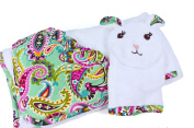 Vera Bradley Baby Hooded Towel and Bath Mitt-TUTTI FRUTTI