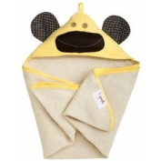 Baby / Child 3 Sprouts Hooded Machine Washable Towel (Perfect Gift For Newborn Or Baby Shower) - Yellow Monkey Infant