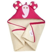 Baby / Child 3 Sprouts Hooded Machine Washable Towel (Perfect Gift For Newborn Or Baby Shower) - Pink Elephant Infant