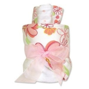Baby / Child 100% Cotton Trend Lab Hooded Towel Gift Cake - Hula Baby For Decorative Yet Practical Gift Giving Infant