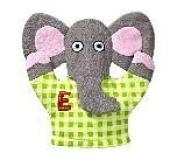 Tiny Tillia Bath Mitt - Austin Elephant
