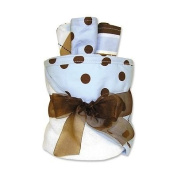 Trend Lab Polka-Dot Towel and Washcloth Gift Cake Set baby gift idea