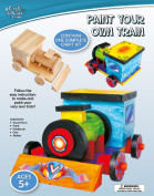 Craft for Kids - Paint Your Own Train