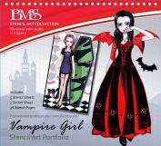 Stencil Art Portfolio - Vampire Girl