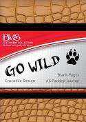 Go Wild A6 Journal - Crocodile