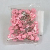 Plastic Headed Nappy Pins - 100 Pack