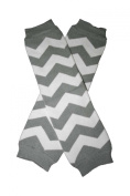 CHEVRON Light Grey & White Zig Zag Baby Sweet Leggings/Leggies/Leg Warmers - BubuBibi