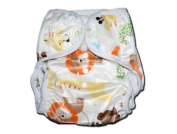 One Size Fit All- Nappy Covers for Prefolds or Regular Inserts PUL MINKY - ZOO