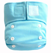 "Kawaii Baby Newborn Reusable Cloth Nappy Pure & Natural 2.72-9.98kg. With 2 Microfiber Inserts "" Light Blue """