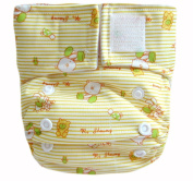 "Kawaii Baby Newborn Reusable Cloth Nappy Pure & Natural 2.72-9.98kg. With 2 Microfiber Inserts "" Comfy Baby """