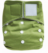 "Kawaii Baby Heavy Duty Hd2 One Size hook and loop Cloth Nappy with 2 Large Inserts "" Olive """