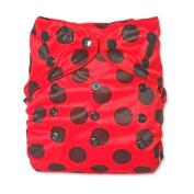 WolbyBug One Size Nappy Cover - Ladybug