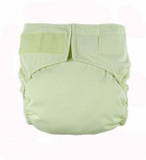 Celery hook and loop Easy Clean One Size Pocket Cloth Nappy by Mommy's Touch