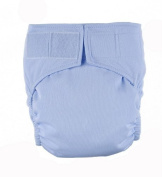 Light Blue hook and loop Easy Clean One Size Pocket Cloth Nappy by Mommy's Touch