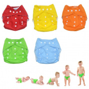 Kingmys 5 Pcs Adjustable Reusable Cloth Nappy Nappy with 10 inserts