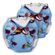 Lil Joey 2 Pack All-In-One Cloth Nappy, Ladder 6