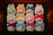 Bumgenius Freetime Cloth Nappies 6 Pack Mixed Colours Snaps