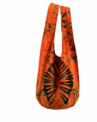 Tie Dye Sling Crossbody Messenger Bag Hippie Hobo Red Firework VJ5