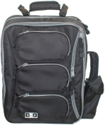 Nappy Dude Convertible Messenger Bag Black/Grey