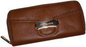 Women's Michael Kors Saratoga Continental Leather Top Zip Wallet Luggage