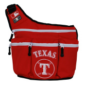 Infant Nappy Dude 'Texas Rangers' Messenger Nappy Bag - Red