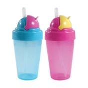 Nurtria BPA Free Flip-Top Straw Cup, 2 Pack, 270ml