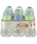 Nurtria 6-Pack Easy-Grip Baby Bottles