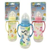 8oz Plastic Jungle Pals Baby Bottle with Handles