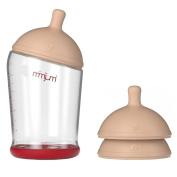 Mimijumi Breastfeeding Baby Bottle and Nipples Set, 240ml