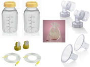 Medela Replacement Parts Kit Pump In Style Advanced with Small 21 mm Breast Shield and Tubing #8007214 with Bonus Breast Care Kit from Mom and Baby Shop
