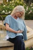 L'oved Baby Nursing Shawl True Blue