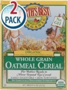 Earth's Best Certified Organic Whole Grain Oatmeal Cereal -- 240ml Each / Pack of 2