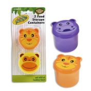 2pc 6.4cm D Assorted Plastic In the Jungle Snack Cups Food Storage Containers