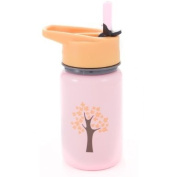 Eco Vessel Kids Stainless Steel Water Bottle with Flip Straw Top - 400 ml