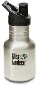 Klean Kanteen 350ml Stainless Steel Water Bottle (Sports Cap 7.6cm Black) - All Colours