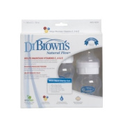 BPA FREE Dr Browns WIDE DELUXE STARTER KIT & BOTTLE BRUSH - BISPHENOL A FREE