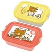 San-x Rilakkuma Food Container 2 of Set