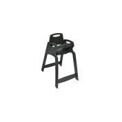 Central Specialties Unassembled Black ECO Chair High Chair