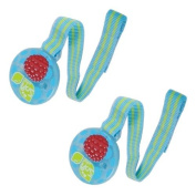 RazBaby Keep-It-Kleen Teether Holder, 2 Pack