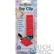 Rich Frog Toy Clip or Pacifier Holder - Pink, Blue or Orange