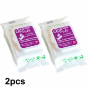 ORGANIC LAVENDER DAILY CLEANSING & MAKEUP REMOVER WIPES WITH ORGANIC ALOE VERA EXTRACT, ALCOHOL, PARABEN FREE