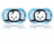 RaZbaby Keep-It-Kleen Pacifier, Ethan Penguin, 0-36 Months, 2 Pack