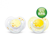 Philips Avent BPA-Free 0-6 Months Night Time Newborn Pacifiers - 2 Pack