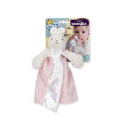 First Friends Satin Blanket Pacifier Pal - Pink Bunny